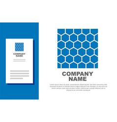 Blue honeycomb icon isolated on white background vector