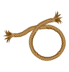 brown realistic break rope icon vector image