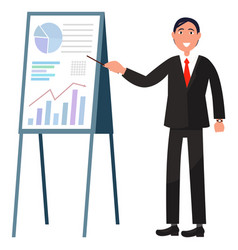 Business researching graph board profit vector