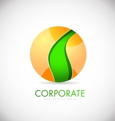 Business sphere 3d corporate logo icon design vector image