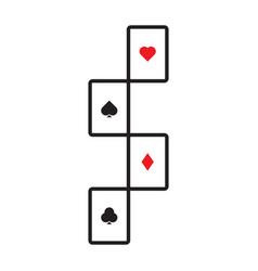 Cards solitaire symbol s logo heart spade vector