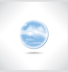 Cloud icon weather sign cloudy sky button isolated vector