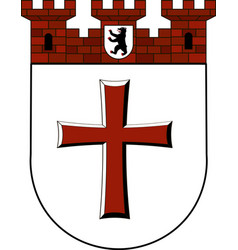 Coat of arms of tempelhof in berlin germany vector