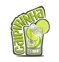 Cocktail caipirinha vector