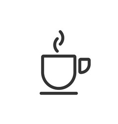 Coffee cup line icon vector