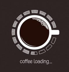 Coffee loading progress vector