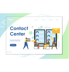 contact center website landing page design vector image