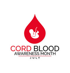 Cord blood awareness month vector