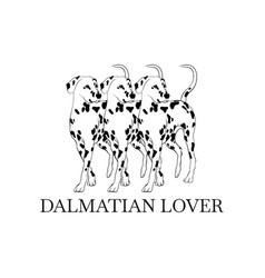 dalmatian lover hand drawn dalmatian isolated vector image