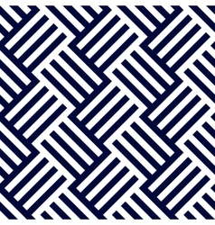 Dark blue and white woven stripes seamless pattern vector