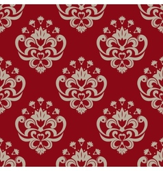 Decorative floral seamless pattern vector image
