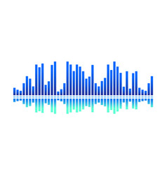 Design of digital music wave bright blue vector
