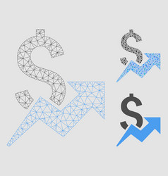 Dollar growth mesh carcass model and vector