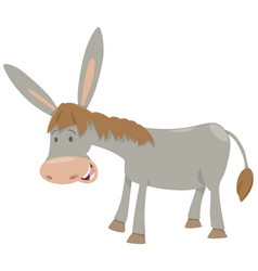 donkey farm animal vector image