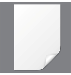 Empty paper sheet EPS10 vector image