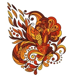 ethnic floral entangle doodle background pattern vector image