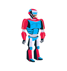 Evolution robot man in metal exoskeleton vector