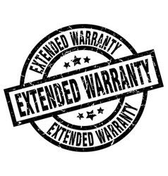 extended warranty round grunge black stamp vector image