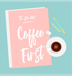 Flat of coffee vector