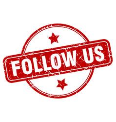 Follow us sign vector