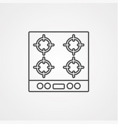 gas stove icon sign symbol vector image