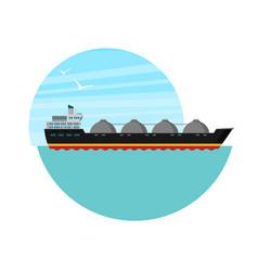 gas tanker flat design vector image