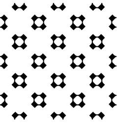 geometric seamless pattern perforated crosses vector image