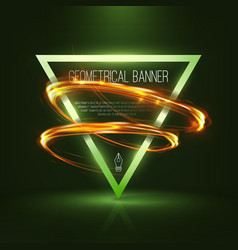 Geometrical banners with neon lights vector