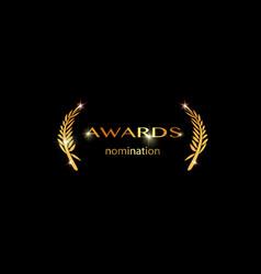 Gold best awards nomination concept vector