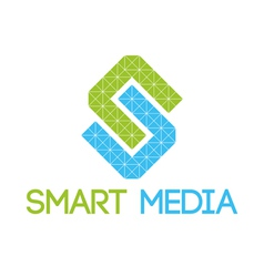 Green blue smart media logo vector