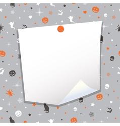 Halloween note paper vector