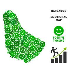 Happy barbados map composition of smiles vector