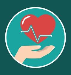 Health insurance concept medical icon vector