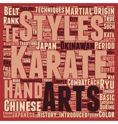 History And Fundamentals Of Karate text background vector