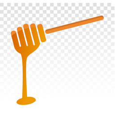 Honey dipper stick icon with dripping vector