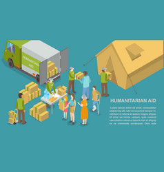 humanitarian help and aid for people poster vector image