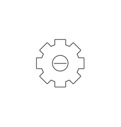 Integration icon style is flat circled symbol vector