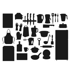 kitchenware utensils cooking cutlery appliances vector image