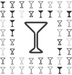 Line cocktail logo design set vector image