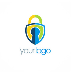 lock secure logo vector image