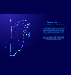 Map belize from the contours network blue vector