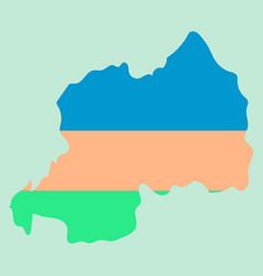 Map-rwanda country vector