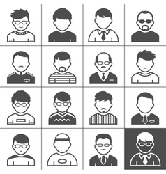 Men users icons vector image