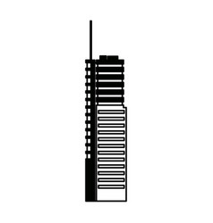 Modern building high structure urban exterior vector