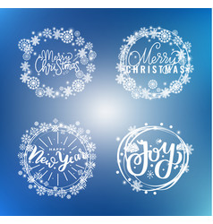 new year happy holidays warm wishes santa cookies vector image