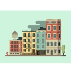 New york city building vector image