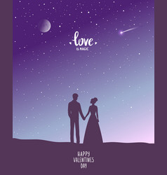 night couple vector image
