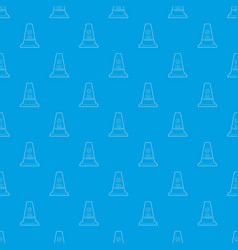 no parking cone pattern seamless blue vector image