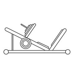 Outline press legs sport machine gym design vector