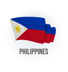 Philippines flag bended flag vector